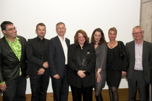 Lynn Hershman Leeson received the 4th [ddaa] at the Deutsches Technikmuseum in Berlin on Sat., 9th October.