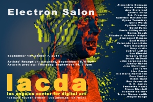 Electron Salon September 14 October 7, 2017